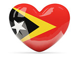 Heart shaped icon with flag of east timor
