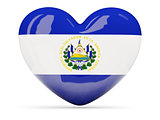 Heart shaped icon with flag of el salvador