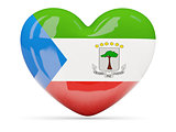 Heart shaped icon with flag of equatorial guinea
