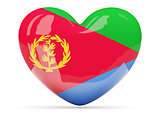 Heart shaped icon with flag of eritrea