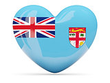 Heart shaped icon with flag of fiji