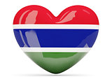 Heart shaped icon with flag of gambia