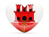 Heart shaped icon with flag of gibraltar