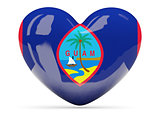 Heart shaped icon with flag of guam
