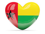 Heart shaped icon with flag of guinea bissau