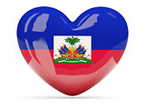 Heart shaped icon with flag of haiti