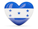 Heart shaped icon with flag of honduras