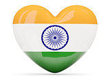 Heart shaped icon with flag of india