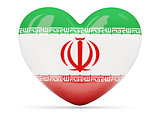 Heart shaped icon with flag of iran