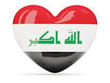 Heart shaped icon with flag of iraq