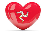 Heart shaped icon with flag of isle of man