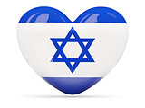 Heart shaped icon with flag of israel
