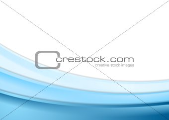 Abstract blue wavy vector background