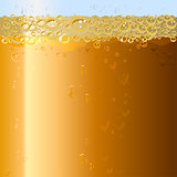 Beer background. Texture of drink in glass