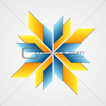 Abstract corporate logo design