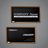 Business card chalkboard design