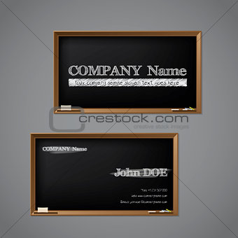 Business card chalkboard design
