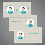 Business card set ideal for partnerships