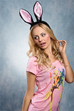Pretty, blonde rabbit