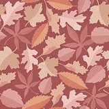 Leaves marsala pattern