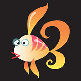 Cartoon fish on a neutral background