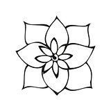 Fantasy flower in tattoo style