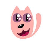 Cartoon cat, stylized funny monster
