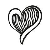Fantasy heart in tattoo style