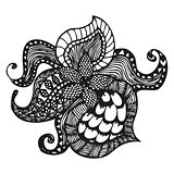 Fantasy pattern in tattoo style