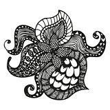 Fantasy pattern in tattoo style