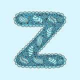 Cute letter Z. Floral monogram Z