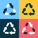 Recycle symbol icons
