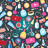 beautiful pattern of rings and cosmetics