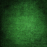 Canvas texture of green color, grunge background