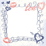 cute hand-drawn doodle frame