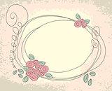 Cute floral frame