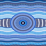 Vector Seamless Blue Pattern