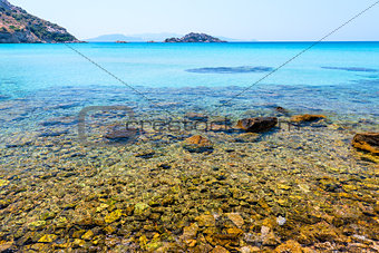 crystal clear waters of the Aegean Sea