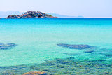 magnificent seascape. turquoise Aegean Sea