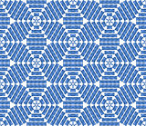 Seamless blue geometric pattern.