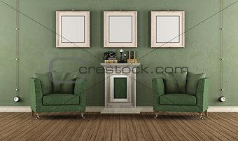 Green vintage room