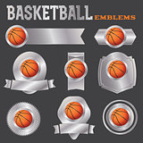 Basketball Emblems Illustration
