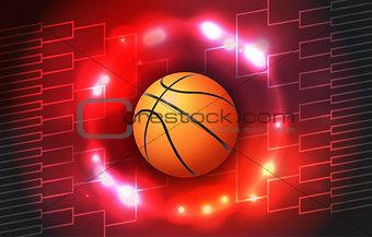 Basketball Tournament Bracket Illustration
