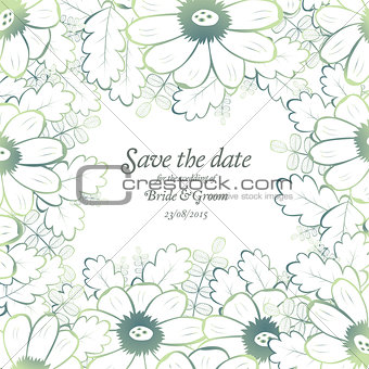 Save the date wedding invite card template