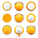 Yellow Round Buttons