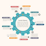 Circle Infographics with Gear