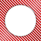 Round Banner on Striped Background