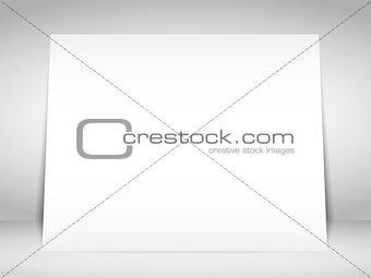 Blank White Placard
