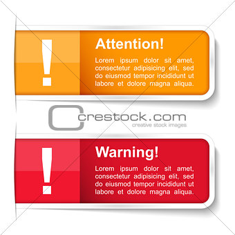Attention and Warning Labels