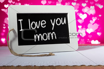 slate blackboard love mom pink